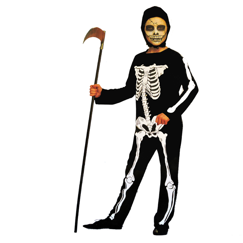 halloween dress up costume skeleton