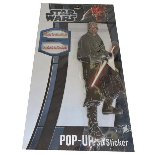 Star Wars 3D Glow in the Dark Pop Up Stickers