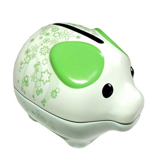 tin piggy bank