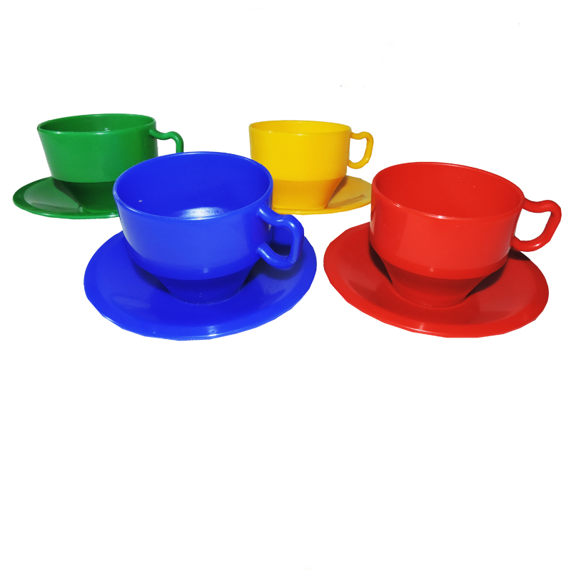 Jumbo Tea Cups & Saucers 8pc * The Toy Factory Shop