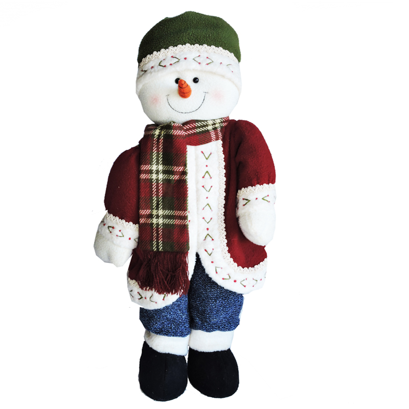 Snowman With Green Hat & Blue Pants * The Toy Factory Shop