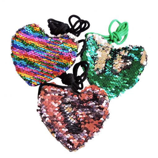 Sequined Heart Bags