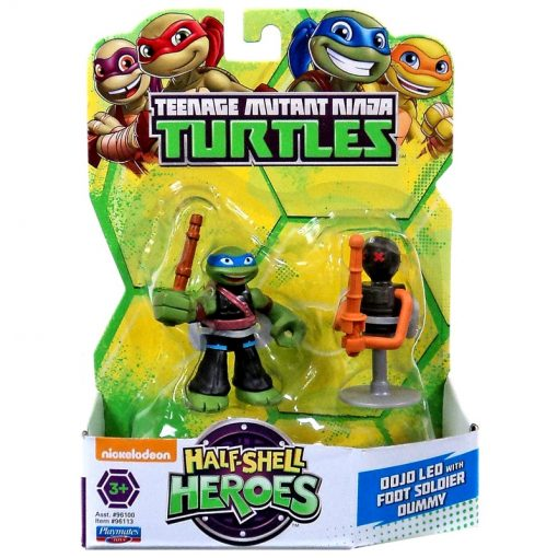 tmnt dojo leo with foot soldier dummy