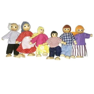 wooden dolls 6 pc