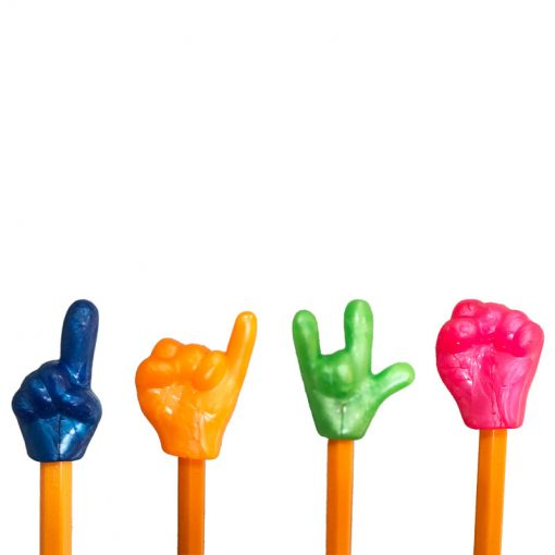 finger pencil toppers