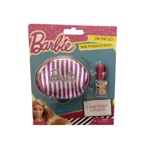 barbie nail polish and pouch