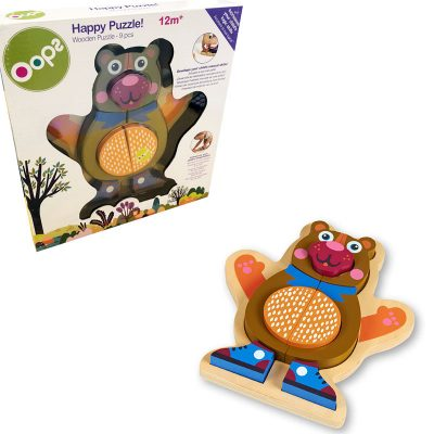 oops 9pc wooden puzzle bear