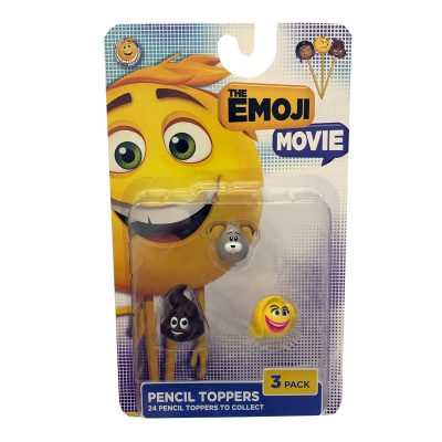 emoji pencil toppers 3pk