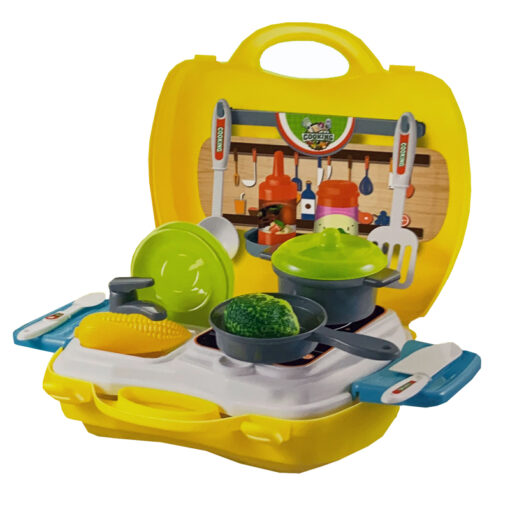 kitchen set in carry case play