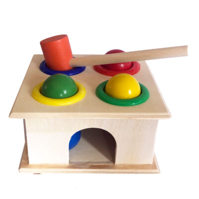 wooden baby hammer toy
