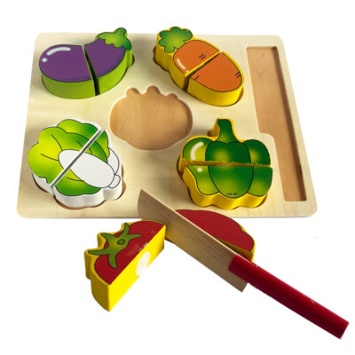 wood food cut puzzle