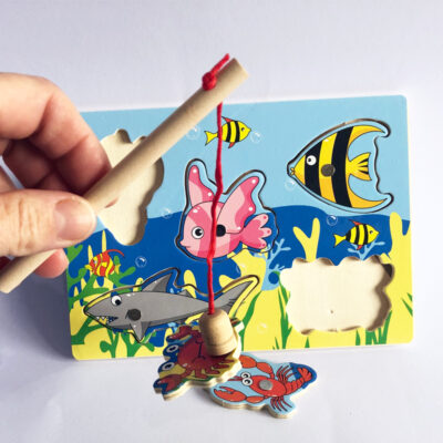 wooden fishing puzzle