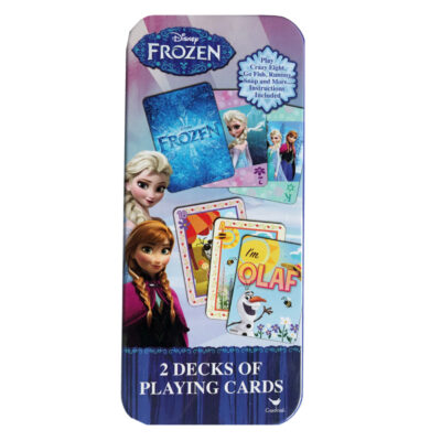 FROZEN 2PK PLAYING CARDS IN TIN
