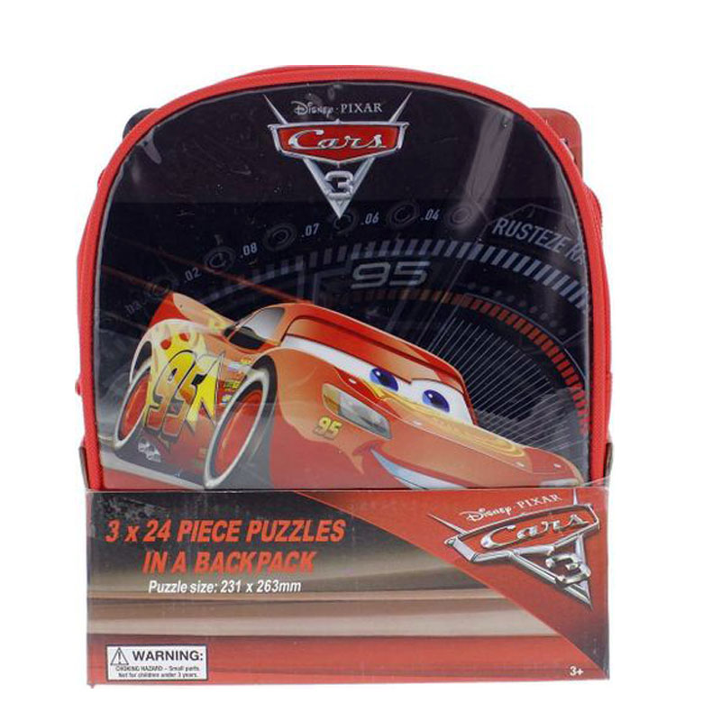 CARS 3 - 3 Puzzles In Backpack