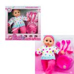baby doll with feeding acceossories