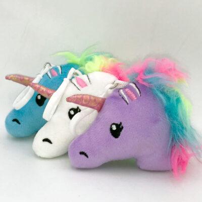 plush unicorn keyring