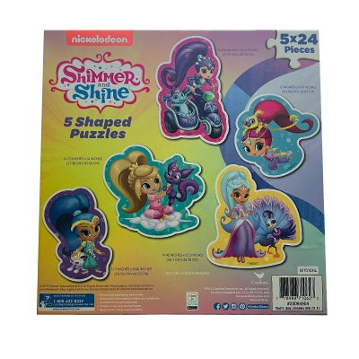 Shimmer and Shine 5 Shaped Puzzle